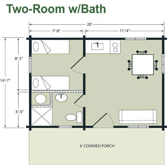 14 x 32 floor plans joy studio design gallery best design for Small cabin plans with loft 10 x 20